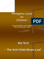 Various Laws Involving Children
