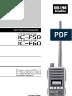 Icom IC-F50_F60 Instruction Manual