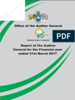 Swaziland Auditor General Report March 2017