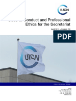 IUCN Code of Conduct and Professional Ethics
