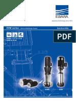 EBARA Catalogue EVMS - 60Hz - DataBook - Rev.D