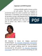 Dr. Vasundra Thiagarajan and B M Hospitals