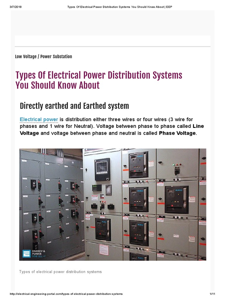 Types of Electrical Power Distribution Systems You Should Know About ...