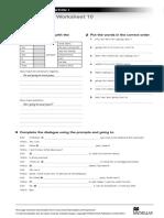 NI1 Grammar Worksheet 10