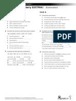 Vocabulary-EXTRA NI 1 Units 3-4 Extension