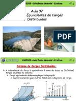 07-EME303-Sistemas Equivelentes de Cargas Distribuidas