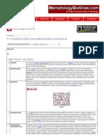 HematologyOutlines - Glossary