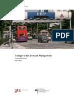 GIZ SUTP TM Transportation Demand Management