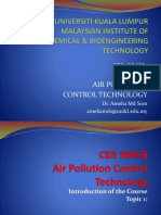 Chapter 1 - CEB 30403 Intro and Current Issue in Air Pollution