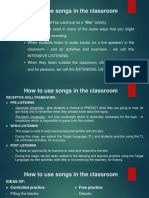 How to Use Songs in the Classroom and Grammar