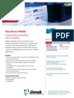 PM308 Wax Resin Ribbon Datasheet