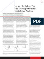An Introduction Into the Role of Gas Chromatography - Mass Spectrometry Gc-ms in Metabolomic Analysis