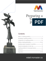 Preparing a Teaching Portfolio Guide 10 2015