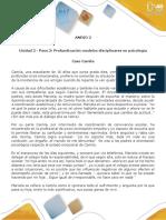 Anexo  2 - Caso Camila - Paso 2 - Profundización modelos disciplinares en psicología (1).docx