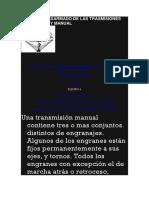 Armado y Desarmado de Las Trasmisiones Automatica y Manual