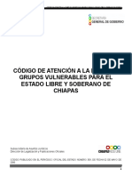 Codigo de Atencion a La Familia y Grupos Vulnerables Para El Estado Libre y Soberano de Chiapas