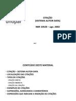 ABNT 10520 - Citacao Autor Data
