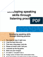 Developing Speaking Skills Through Listening Practice
