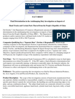 Final Determination in the Antidumping Duty Investigation on Imports of Hand Trucks and Certain Parts Thereof From the People's Republic of China - October 7, 2004