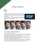 9 Mitos Sobre Psicólogo e Psicoterapia
