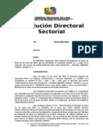 Resolución Directoral Sectoria Ampliacion Agosto