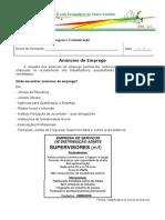 Atividade_ortografica1- ANUNCIO EMPREGO