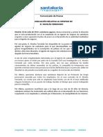 Comunicado de SantaLucía Seguros relativo al despido de D. Nicolás Ferrando