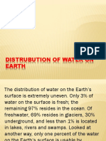 DISTRUBUTION OF WATER ON EARTH.pptx
