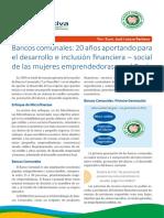 Boletin Alternativa Microfinanzas - Bancos Comunales 3ra. Generación