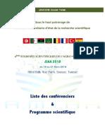 Programme JSAA 2018