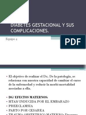 complicaciones maternas diabetes gestacional pdf