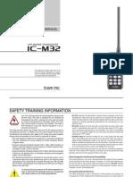 Icom IC-M32 Instruction Manual