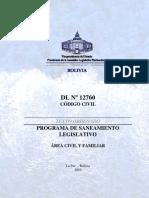 Código Civil del Estado Plurinacional del Bolivia