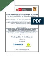 Estudio de Impacto Ambiental - Relleno Sanitario, Andahuaylas