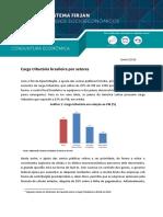 Carga Tributária Brasileira Por Setores - Janeiro 2018 - FIRJAN