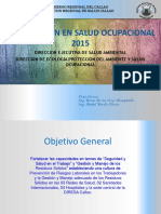 Capacitación Salud Ocupacional 2015