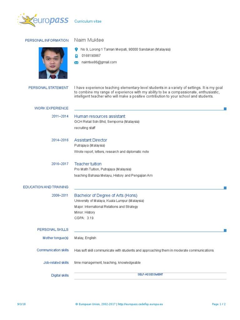 Naim Resume 2018   Malaysia   University