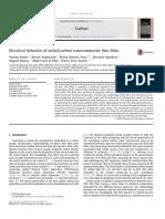 Electrical Behavior of Nickel Carbon Nanocomposite Thin Films