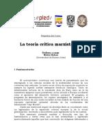 2014 - PLED Kohan Programa Del Curso La Teoria Critica Marxista Hoy