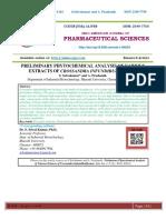 PRELIMINARY PHYTOCHEMICAL ANALYSIS OF VARIOUS EXTRACTS OF CROSSANDRA INFUNDIBULIFORMIS.