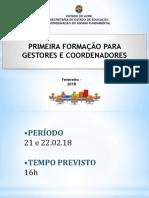Pauta Gestores - Fevereiro 2018-2
