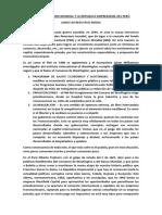 Orden Financiero Mundial y La Republica Empresarial Del Perú - Dario Alfredo Ruiz Medina