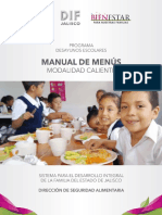 Manual de Menus de Desayunos Calientes 2018