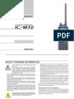 Icom IC-M72 Instruction Manual
