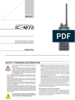 Icom IC-M72 Instruction Manual