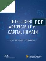 Etude Intelligence artificielle et capital humain. Quel défi pour les entreprises?
