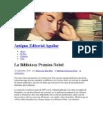 Premios Nobel Biblioteca Antigua Editorial Aguilar