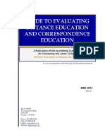 guide to evaluating de and ce 2013