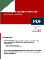 ACOUSTICS 3 Damping Acoustics Simulations