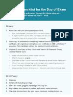 Essential Checklist for NEET PG Exam Day